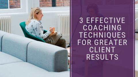 Effective coaching techniques
